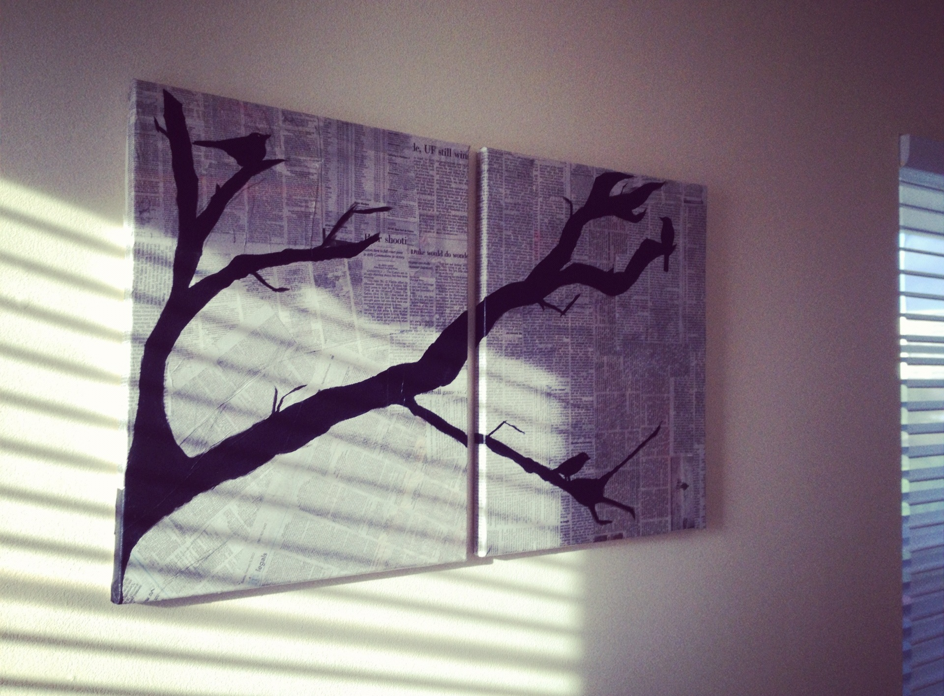 Diy canvas art bare bones for Newspaper canvas art